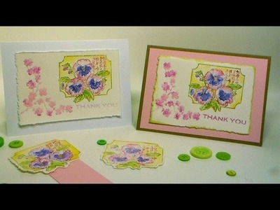 Letterpress & Watercolor Quick Card {with markers!}