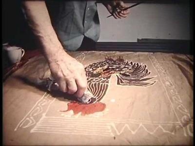 Michael O'Connell: wax resist batik artist's studio, home and textiles