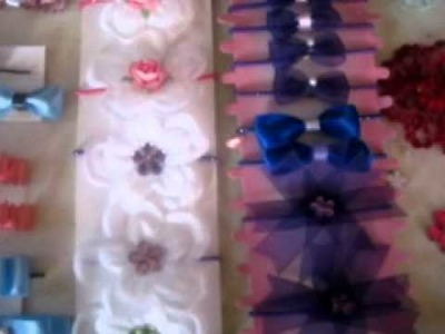 My first homemade hair bows!!!!!