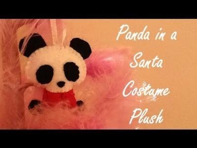 Panda in a Santa Costume Plush COLLAB