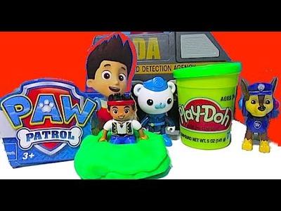 PAW PATROL Parody [Nickelodeon] Octonauts, Play-Doh Slime, Chase, Marshall, CDA Van, Toy Video
