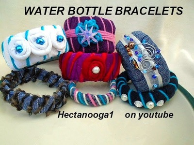 WATER BOTTLE BRACELETS, Girl guides, Camp Projects, Birthday Party Activity