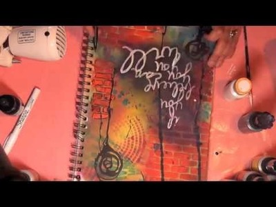 Art Journal Page - Using Lindy's Stamp Gang & Crafter's Workshop Templates