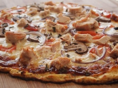 BBQ Chicken Pizza with Cauliflower Crust!