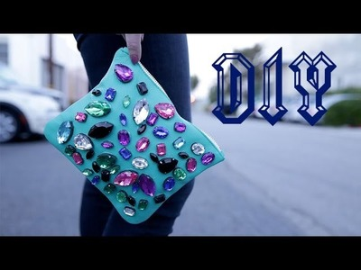 DIY Fashion | Jeweled Party Clutch | Designer DIY