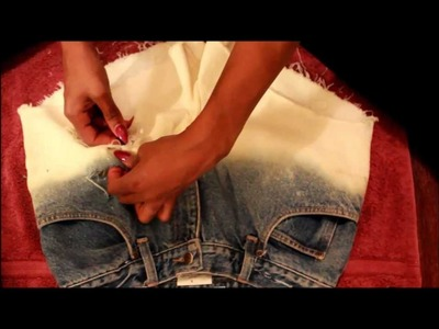 DIY:Ombre Gradient Blue Shorts