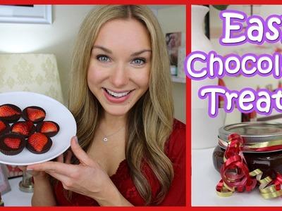 Easy Chocolate Treats! Chocolate Strawberries & Body Scrub ❤