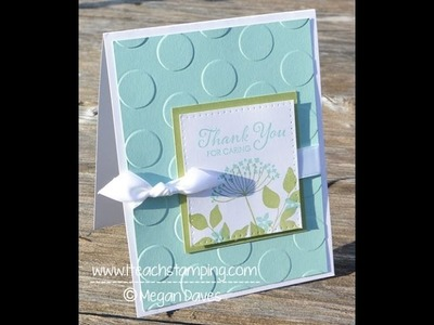Friday Flip Inspiration Card:  Making a Thank You Card