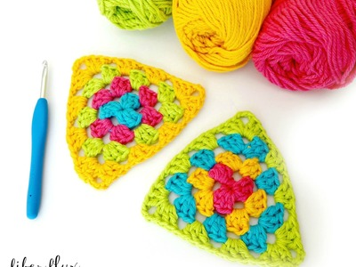 How To Crochet  A Granny Triangle, Episode 245