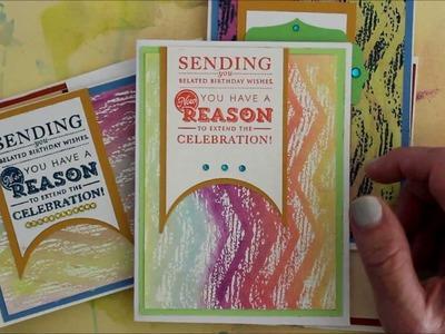 How-To: Heat Embossed Resist Cards