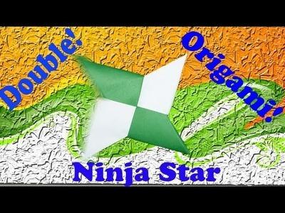 How to Make A Double Paper(Origami) - Ninja Star(Shuriken)