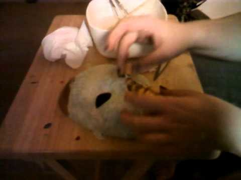 How to make a masquerade ball mask out of papper mache tutorial 1