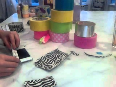 How to make an iphone.itouch case out of duct tape ( part 2)