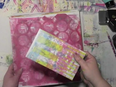 Making Envelopes from Gelli Prints with Carolyn Dube
