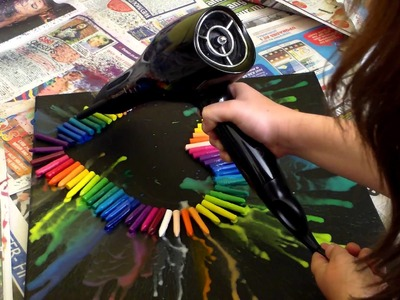 Melted Crayon Heart, Canvas!