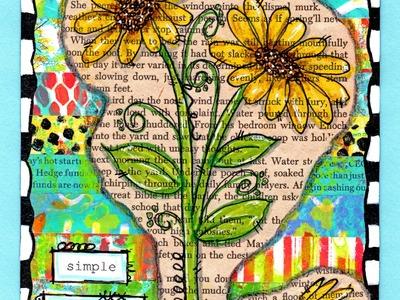 Mixed Media Art Card - Simple Pleasures