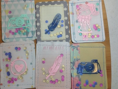 Project Life Vellum Shaker Cards with Sequins