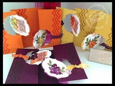 Simply Simple DOUBLE FLIP LABEL CARD by Connie Stewart