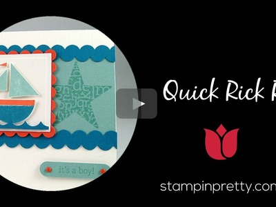 Stampin' Up! Tutorial:  How to Create Quick Rick Rack