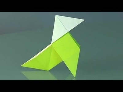 A paper bird, pajarita. Origami step by step
