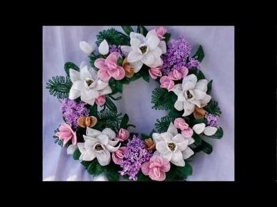 Beaded Flower Wreath - A Personal Memorial
