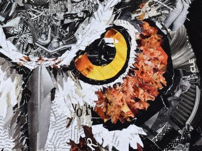 Collage Art from torn magazine paper by Deborah Shapiro 2015