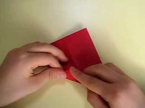 Corazón en origami con bolsillito