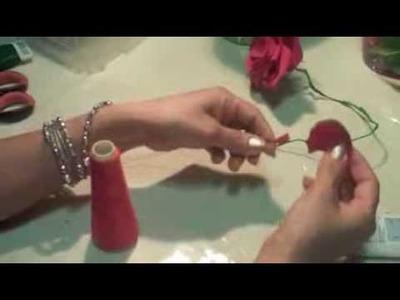 CREPE PAPER ROSES tutorial - COMO HACER ROSAS DE PAPEL CREPE