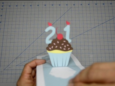 Detailed Birthday Cupcake Pop Up Card Tutorial