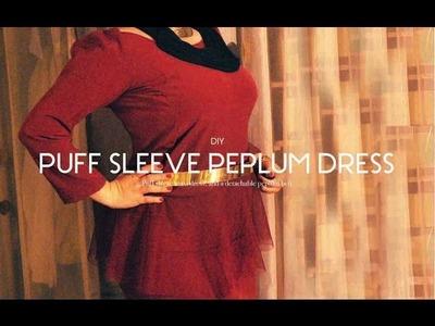 DIY Days: Puff sleeves dress + Peplum Belt