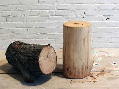 DIY Log End Table