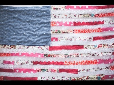 DIY patchwork american flag inspired by Sara Rahbar