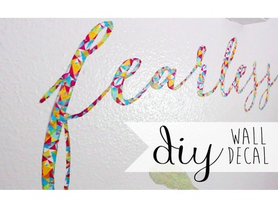 DIY Room. Dorm Decor: Wall Decal Using Washi Tape ❀