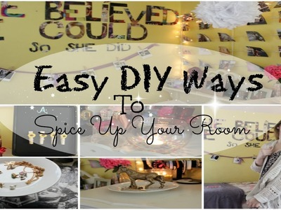 Easy DIY Ways To Spice Up Your Room♡