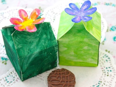 Easy & Pretty Flower Gift Box Tutorial - FREE Printable