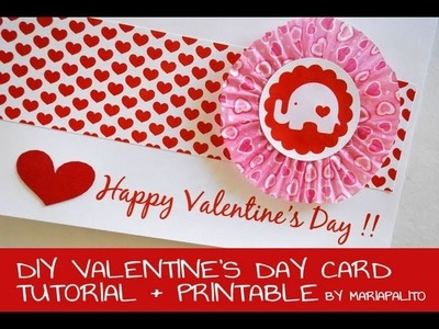 Elephant Valentine's Day Card - How to make a ValentineMake a Card
