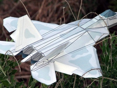 F-22 Paper Airplane 3D model