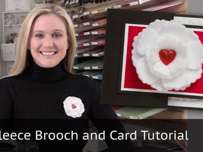 Fleece Brooch & Card Tutorial - Fun Flowers Bigz Die