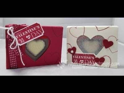 Heart Glitter Window, Chocolate Holder frenchiestamps.com