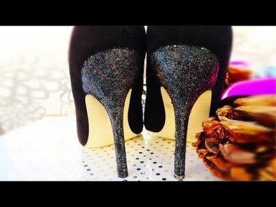 How to Fix Scuffed Heels With Glitter Polish | Sweet Hacks