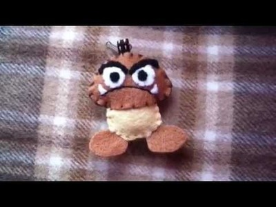 How to Make a 'Goomba' Plush Keychain from Felt