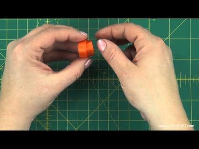 How To Make A Pumpkin Hair Clip - Free Instructional Video