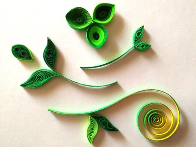 How To Make Quilled Leaves Using Paper Art Quilling