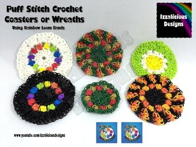 Loomigurumi Crochet Coaster | Wreath | Decoration using Rainbow Loom Bands