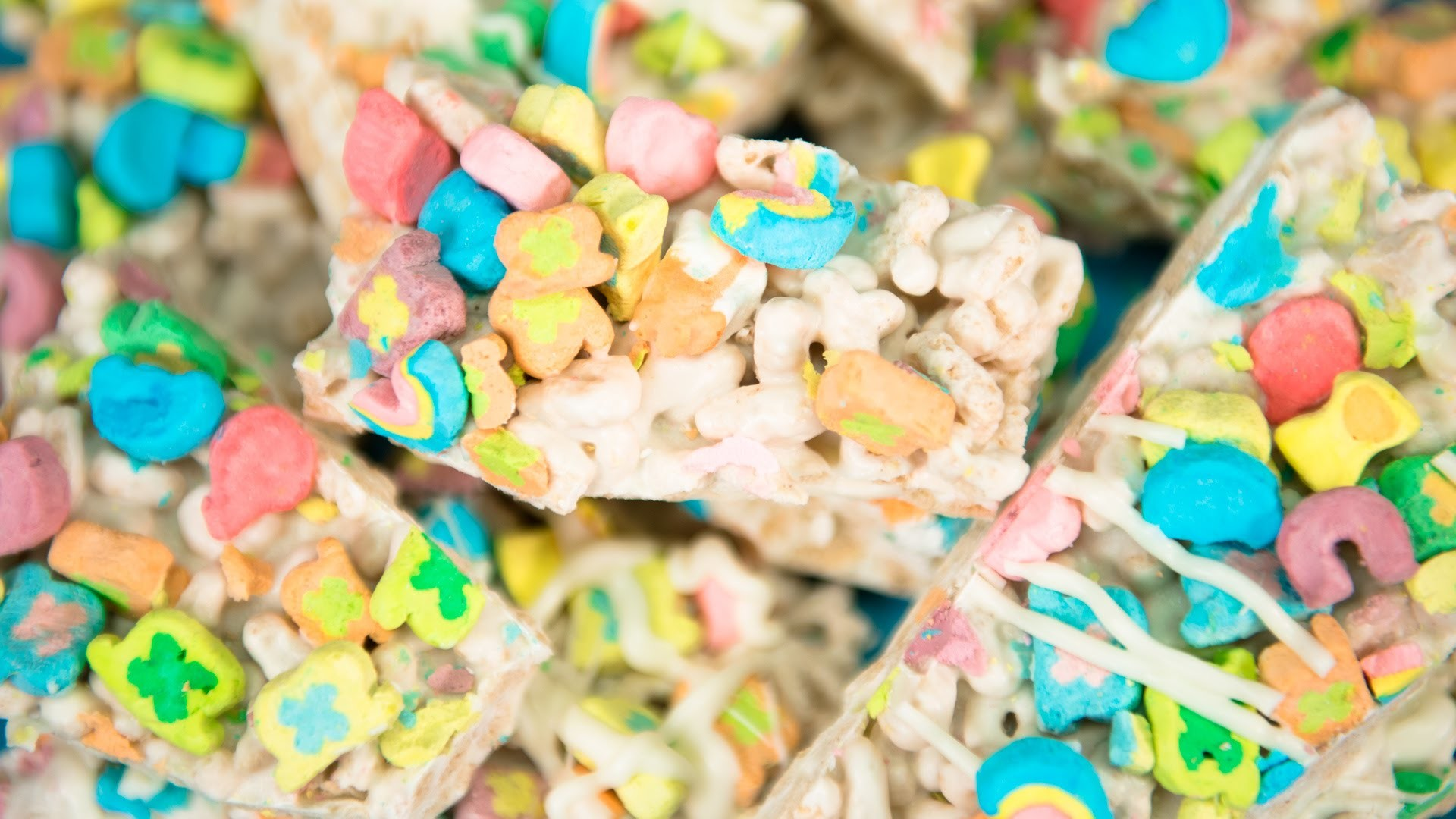 Lucky Charms Treats (No Bake) from Cookies Cupcakes and Cardio