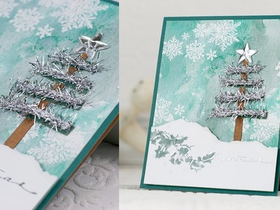 Merry Christmas card with the 2013 Holiday Card Kit Inspired by Tim Holtz