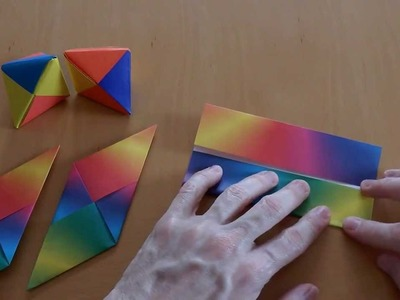 Origami 3D Star, 3D Stern Anleitung Tutorial