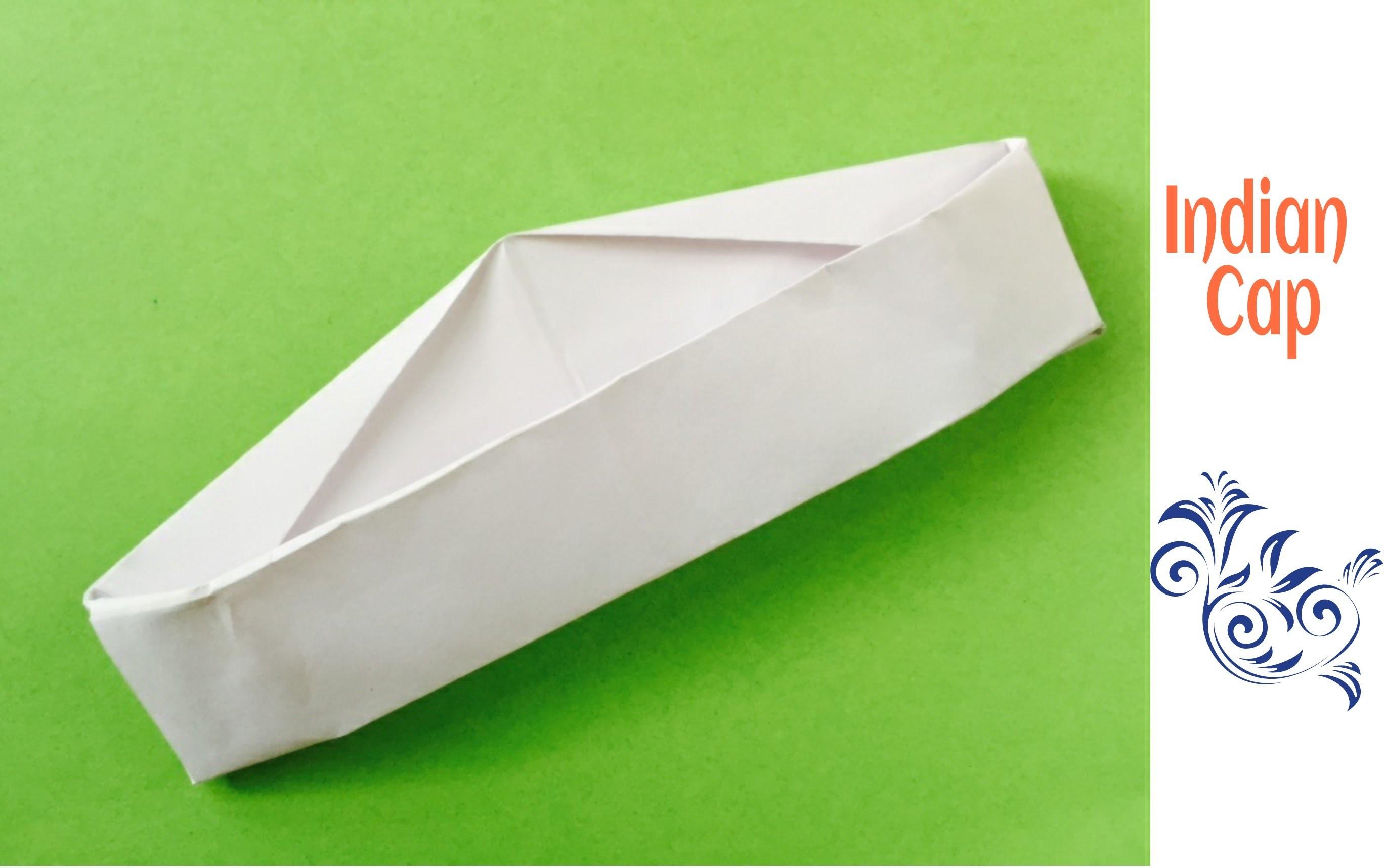 Origami Paper Indian Cap(Gandhi. Nehru Topi) - A4 sheet !!