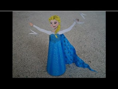 """Paper Model of Elsa from the Movie """"Frozen"""""""