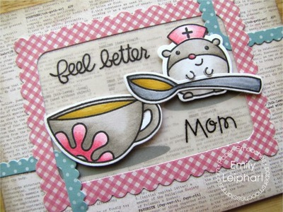 {Paper Smooches} Get Well Card with Healthy Vibes and Nurse Hamsy